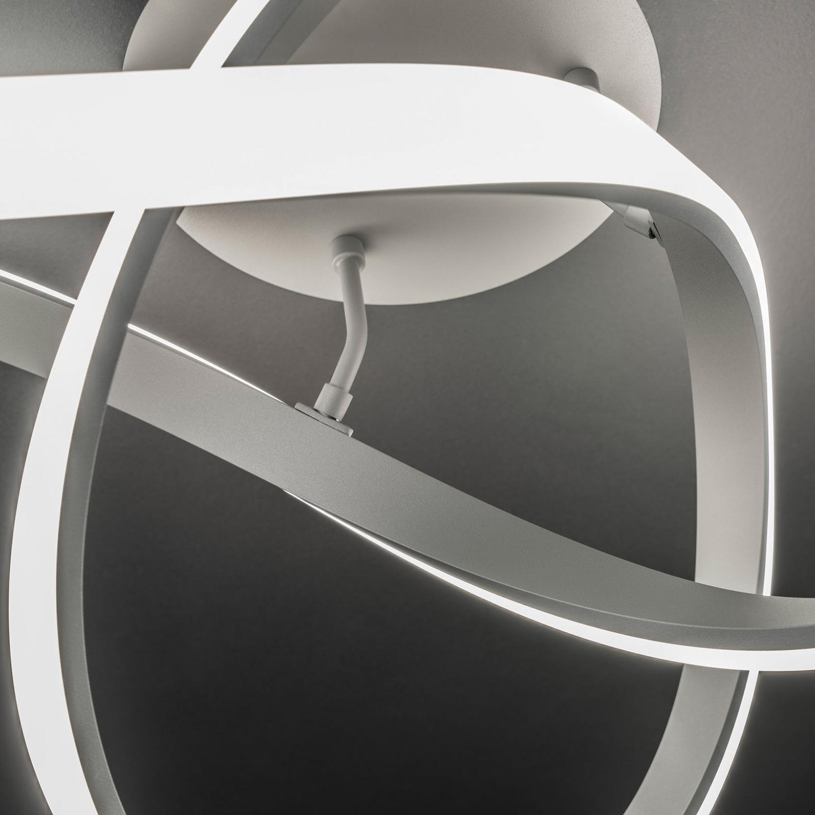 LED-kattovalaisin Indigo, 1-lamppuinen antrasiitti