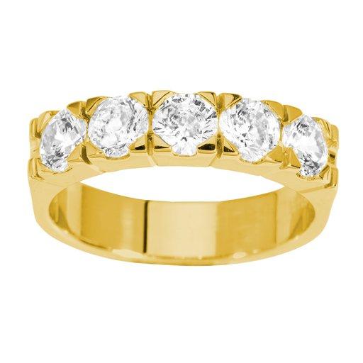 Diamantring i 18K guld, 52