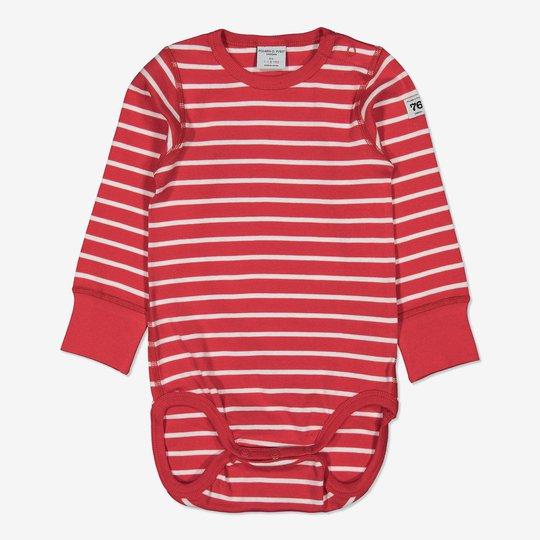Body stripet baby rød