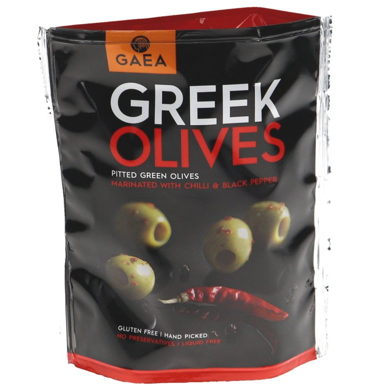 Vihreät Oliivit Chili & Mustapippuri - 31% alennus