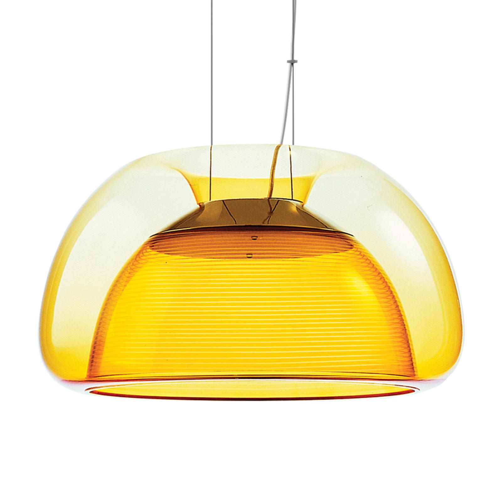 Värikäs Aurelia-LED-riippuvalaisin, oranssi
