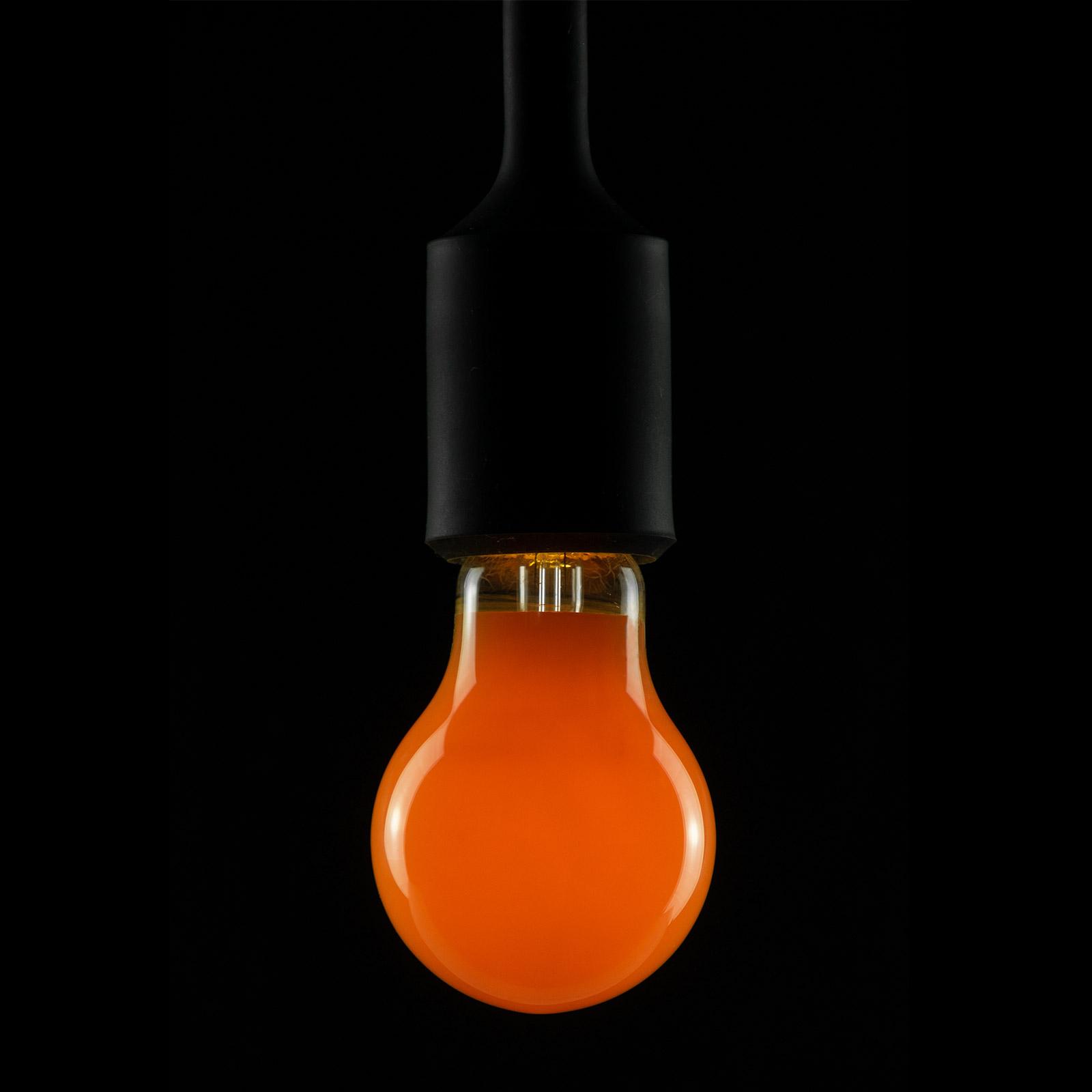 E27 2W LED-lamppu oranssi, himmennettävä