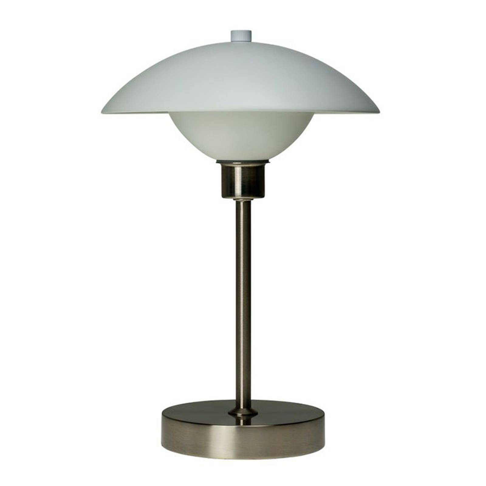 Dyberg Larsen Roma -pöytälamppu, valkoinen/teräs