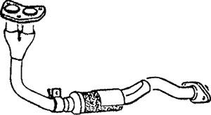 Pakoputki, Edessä, TOYOTA COROLLA, COROLLA Compact, COROLLA Liftback, COROLLA Station Wagon, 17410-11280