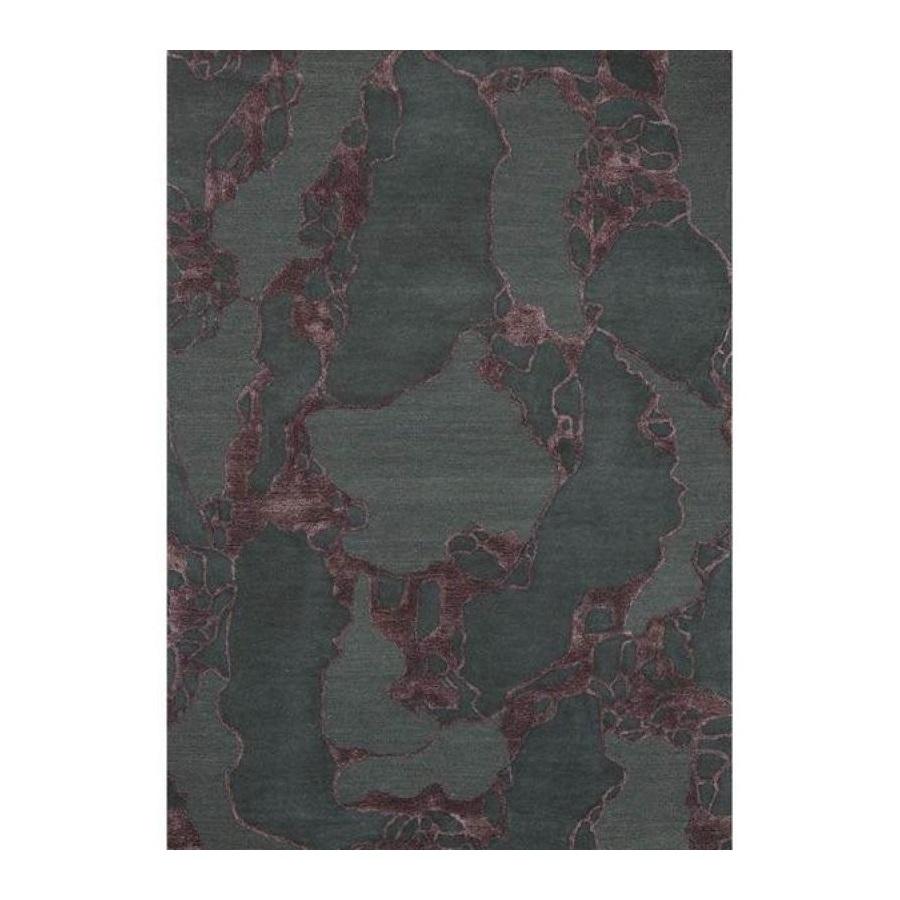 Ull/ Viskosmatta ARCO 170 x 240 cm Bordeaux, Linie Design