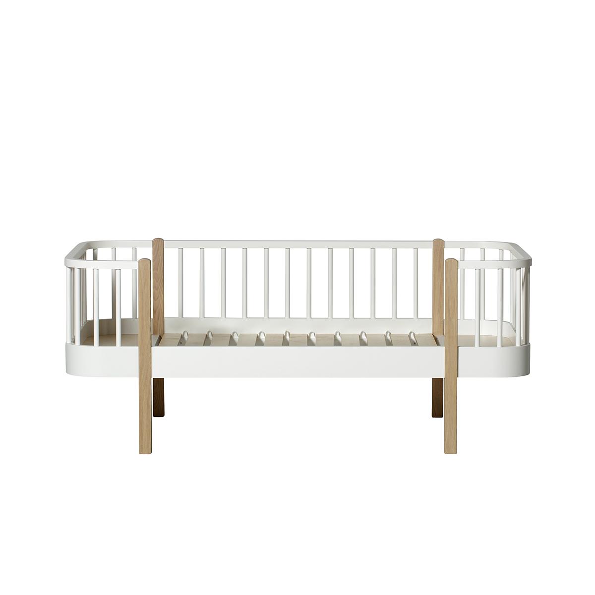 Junior dagbädd Wood Collection vit/ ek, Oliver Furniture