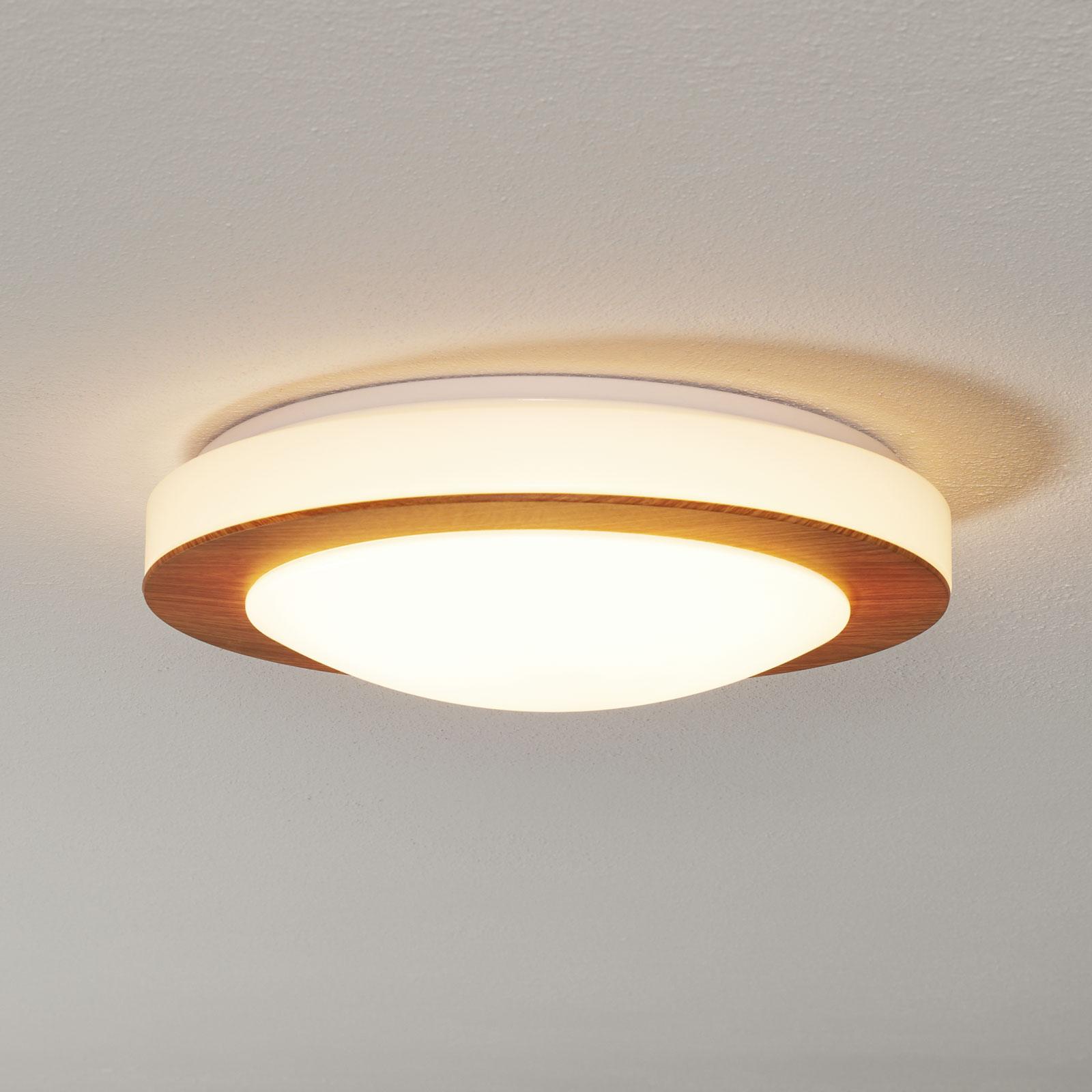 LED-kattovalaisin Gordon, puunvärinen lakkaus
