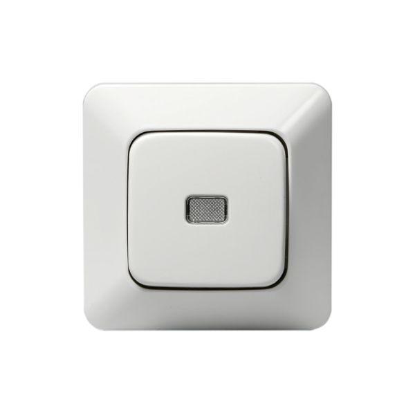 ABB 1466UGL4 Painike upotettava, IP20, valkoinen Porras, ilman kiinnityskynsiä