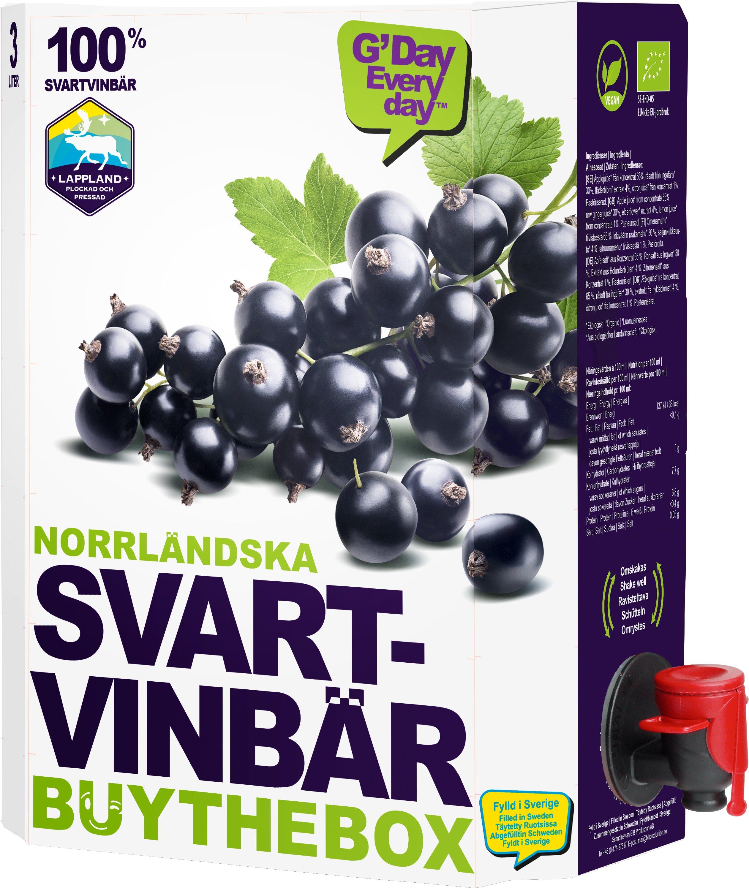 Svartvinbärjuice - 20% rabatt