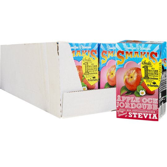 "Hel Låda Fruktdryck ""Äpple & Jordgubb"" 27 x 250ml - 51% rabatt"