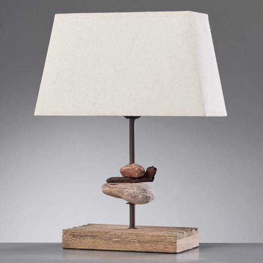 Seregon bordlampe med stoffskjerm, høyde 39 cm