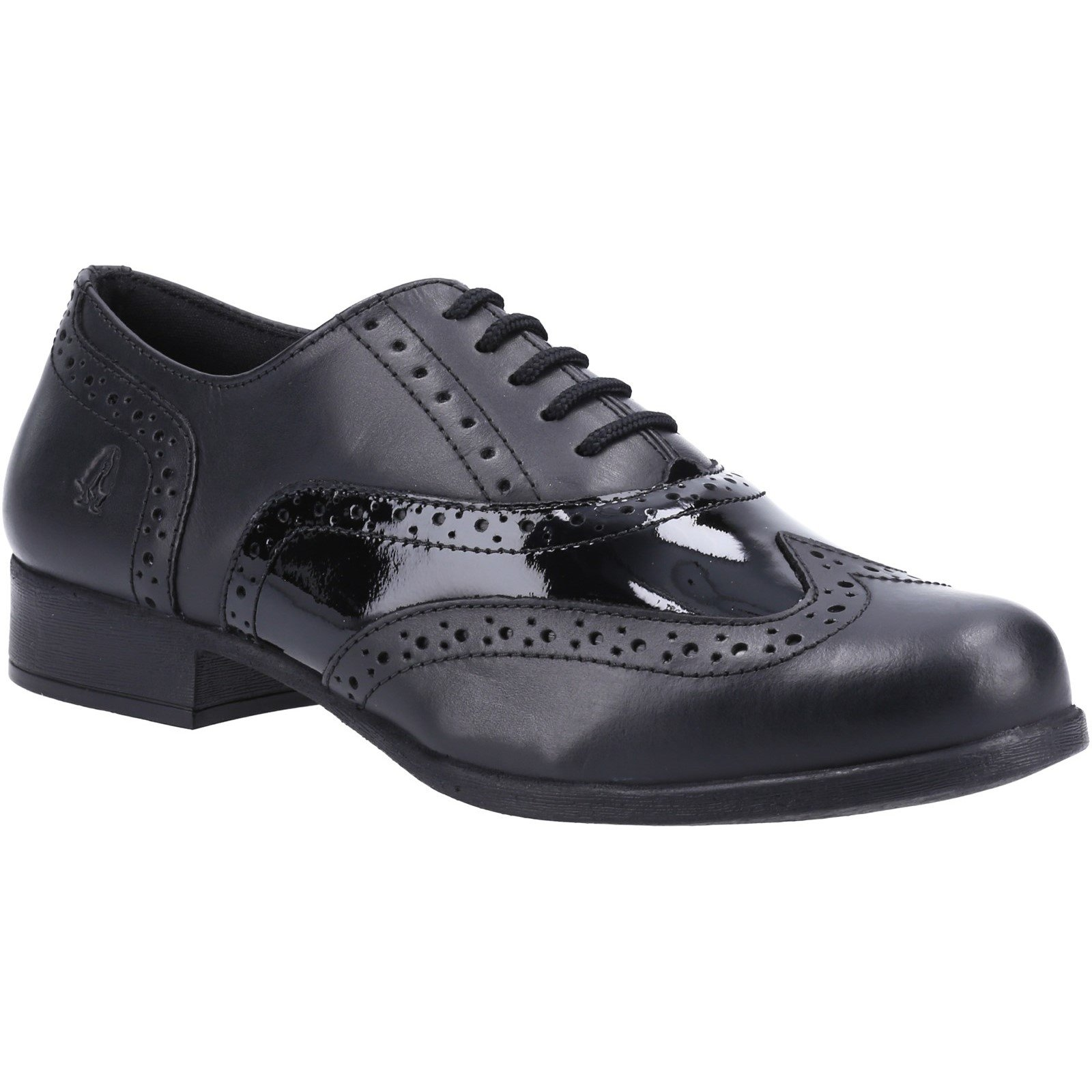 Hush Puppies Kid's Kada Junior School Brogue Shoe Black 33192 - Black 13