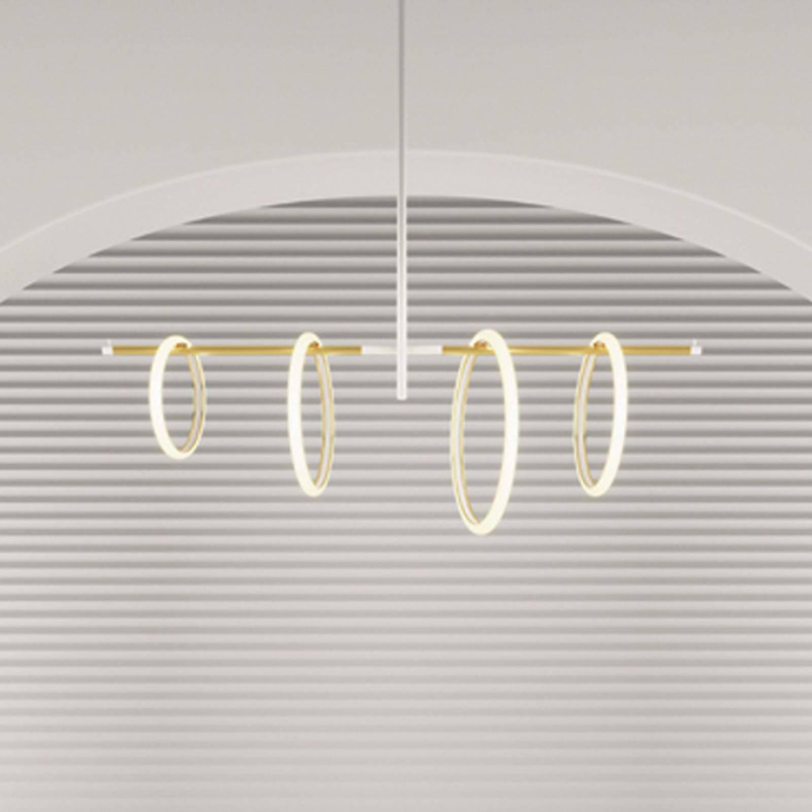 LED-riippuvalaisin Ulaop, 4 rengasta, valkoinen