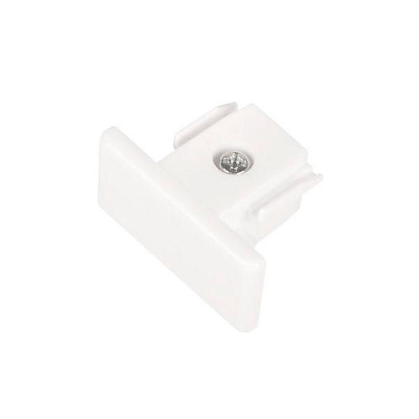 Hide-a-Lite LiteTrac Endestykke 1-faset, hvit
