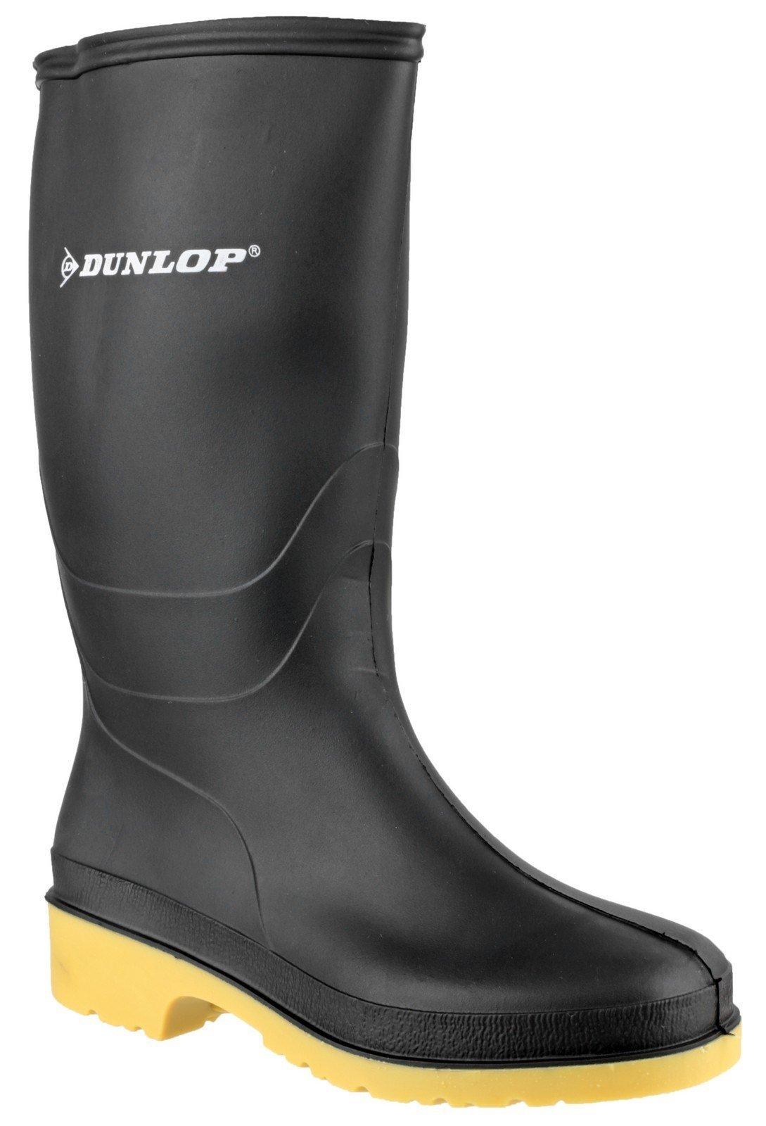 Dunlop Kids Dull Wellington Boots Black 22233 - Black 10 UK