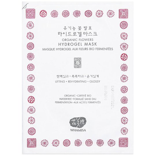 Whamisa Organic Flowers & Aloe Vera Hydrogel Mask, 33 g Whamisa Skincare K-Beauty