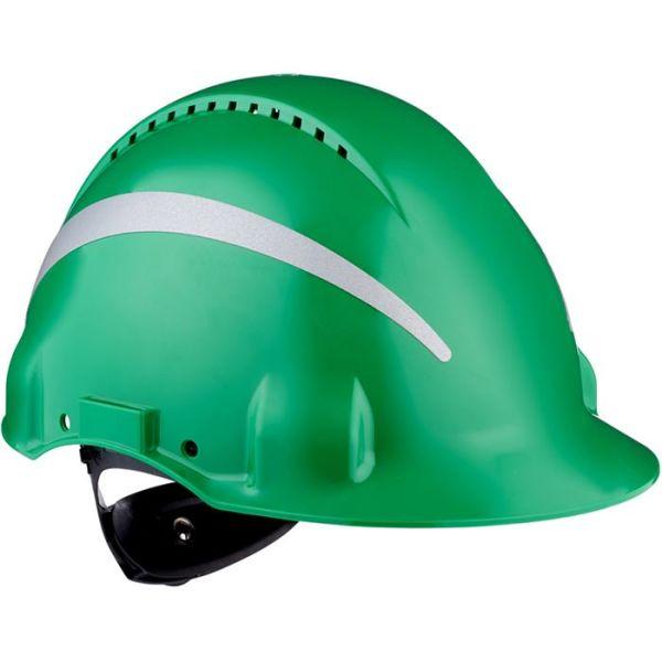 3M G3000 Vernehjelm med reflekser Grønn