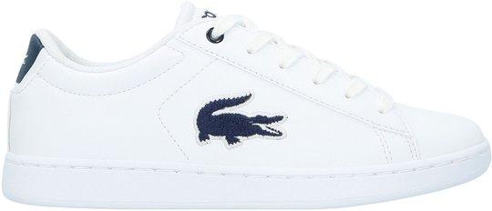 Lacoste Carnaby Evo 318 Sneaker, White/Navy 36