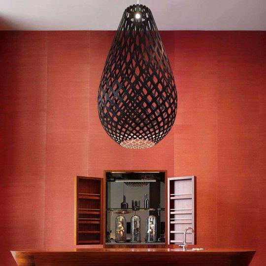 david trubridge Koura pendellampe 75 cm svart