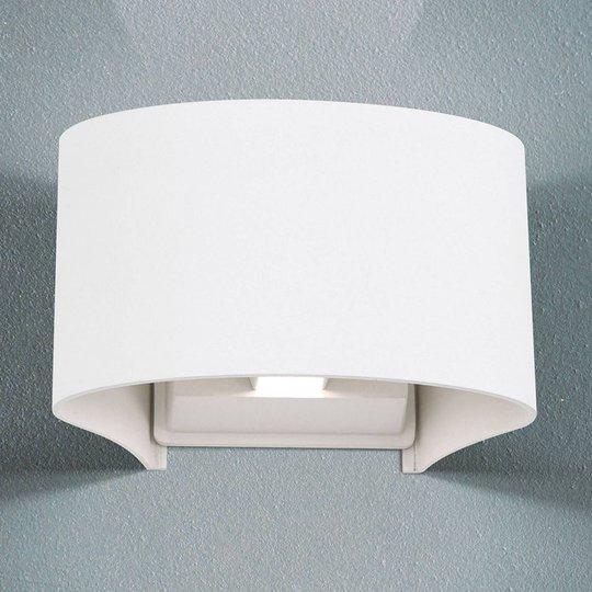 Greta utendørs LED-vegglampe, up/down, hvit