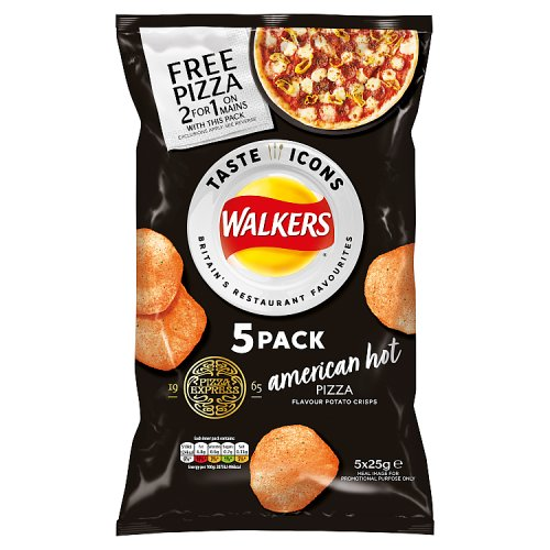 Walkers Pizza Express American Hot Pizza Chips 125g