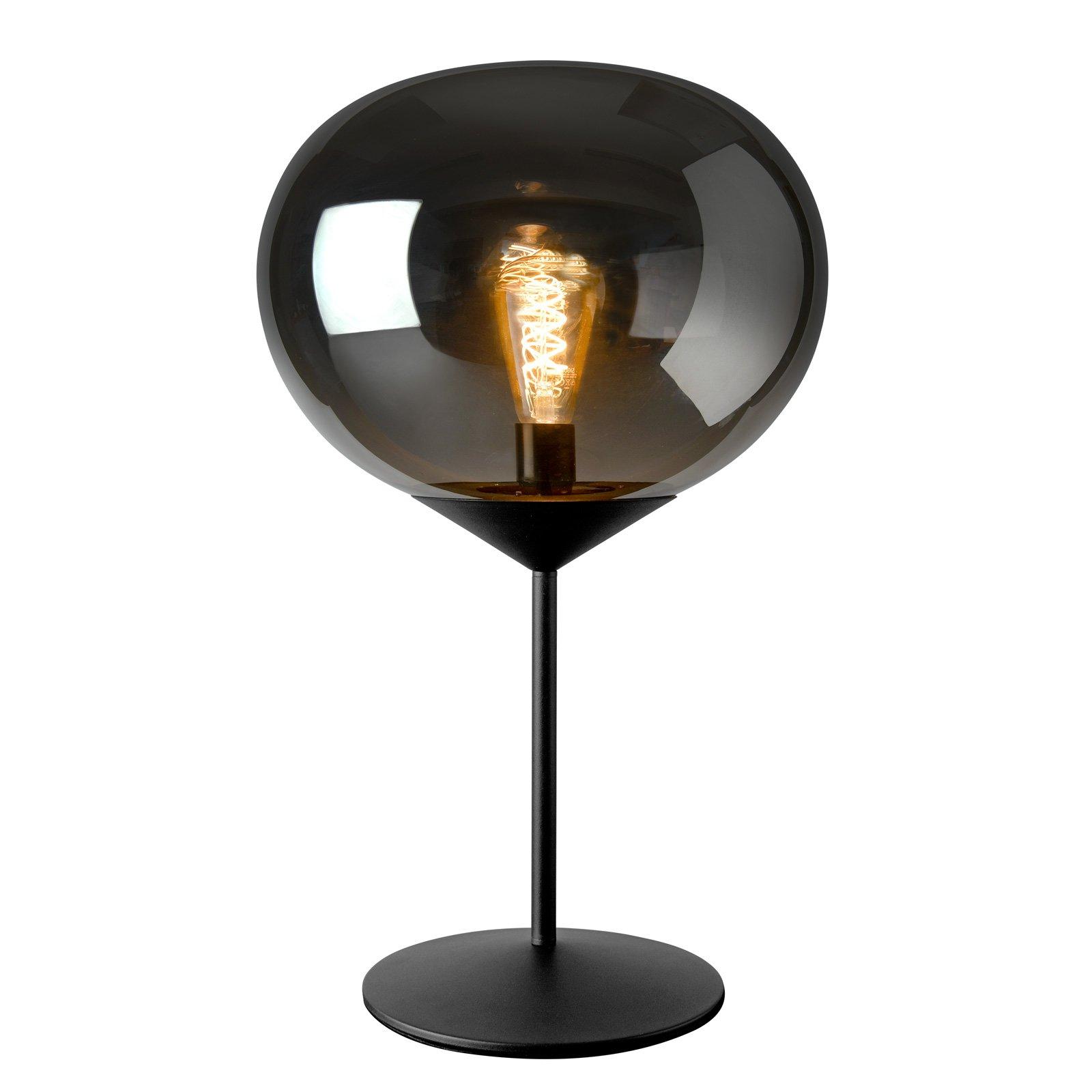 Bordlampe Drop med røykglass-skjerm