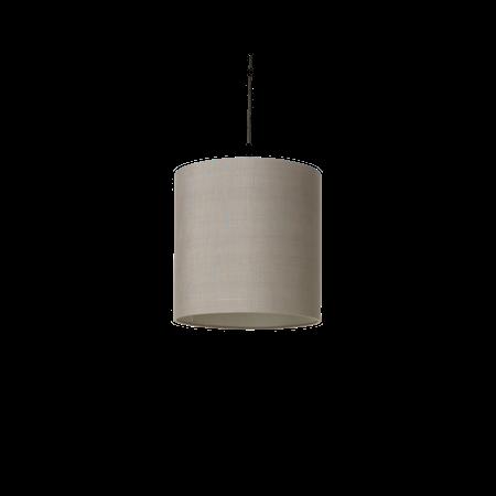 Raw Silke Lampskärm Grå 30x30 cm