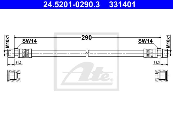Jarruletku ATE 24.5201-0290.3