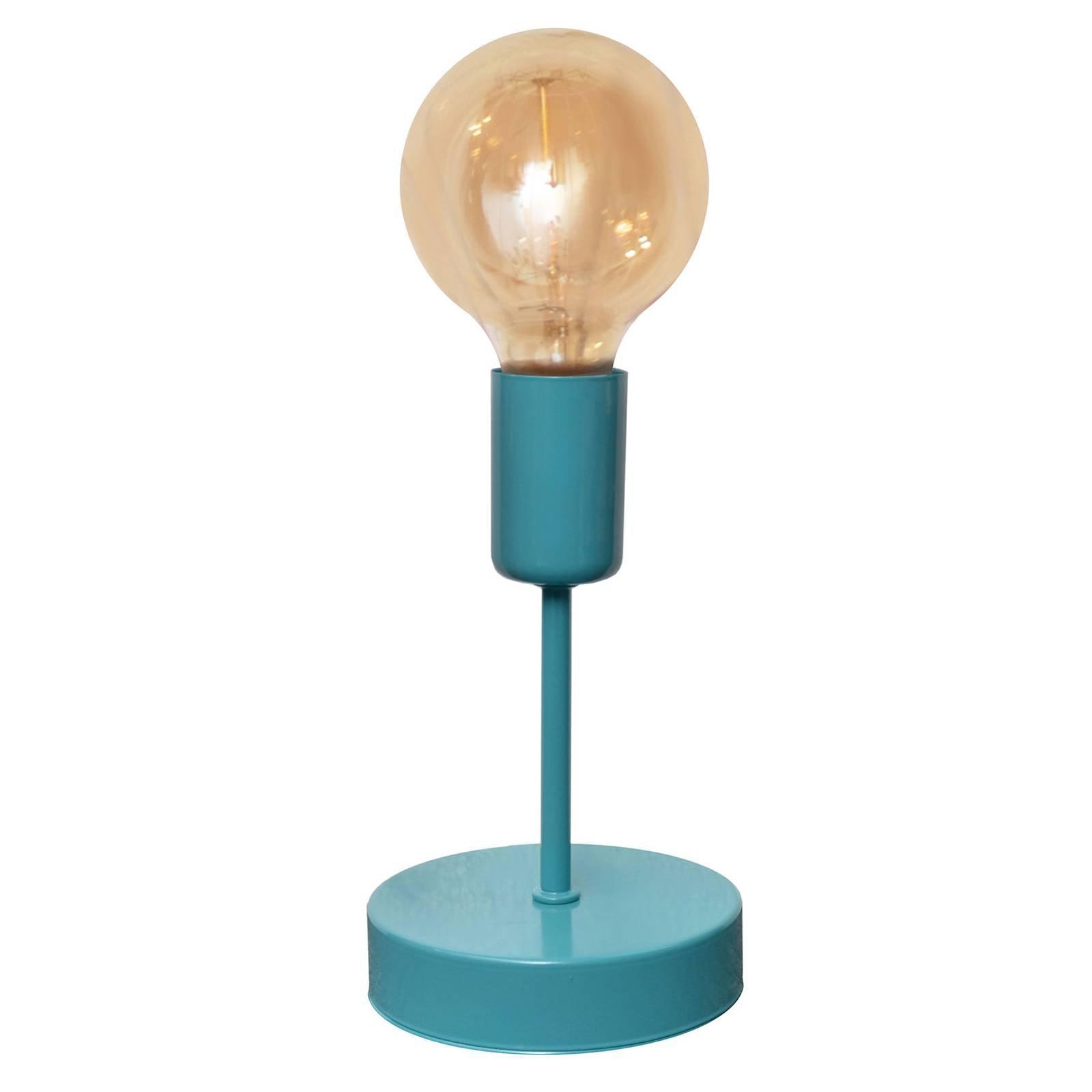 Fargerik bordlampe Oxford, turkis