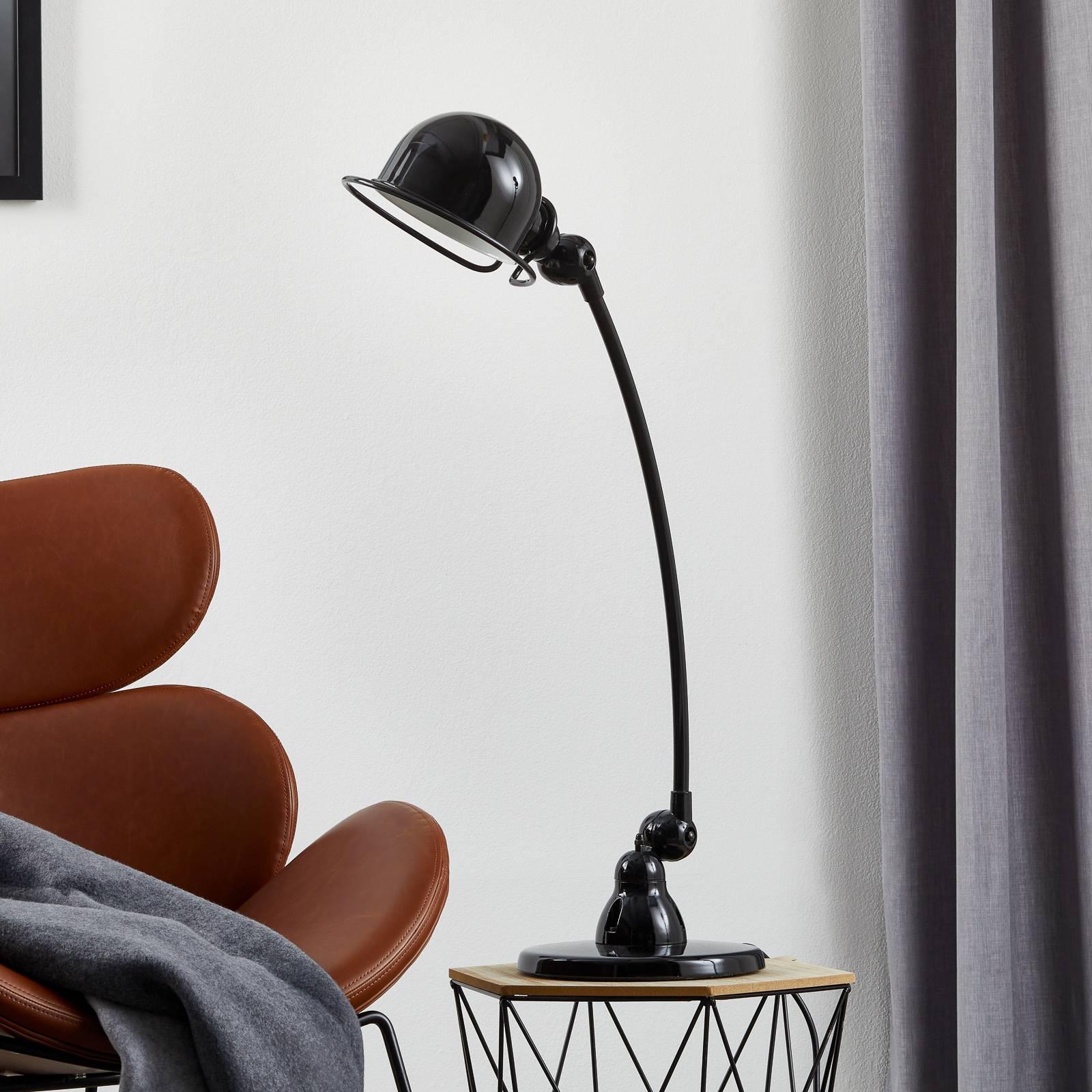Jieldé Loft C6000 -pöytävalaisin kaareva, musta