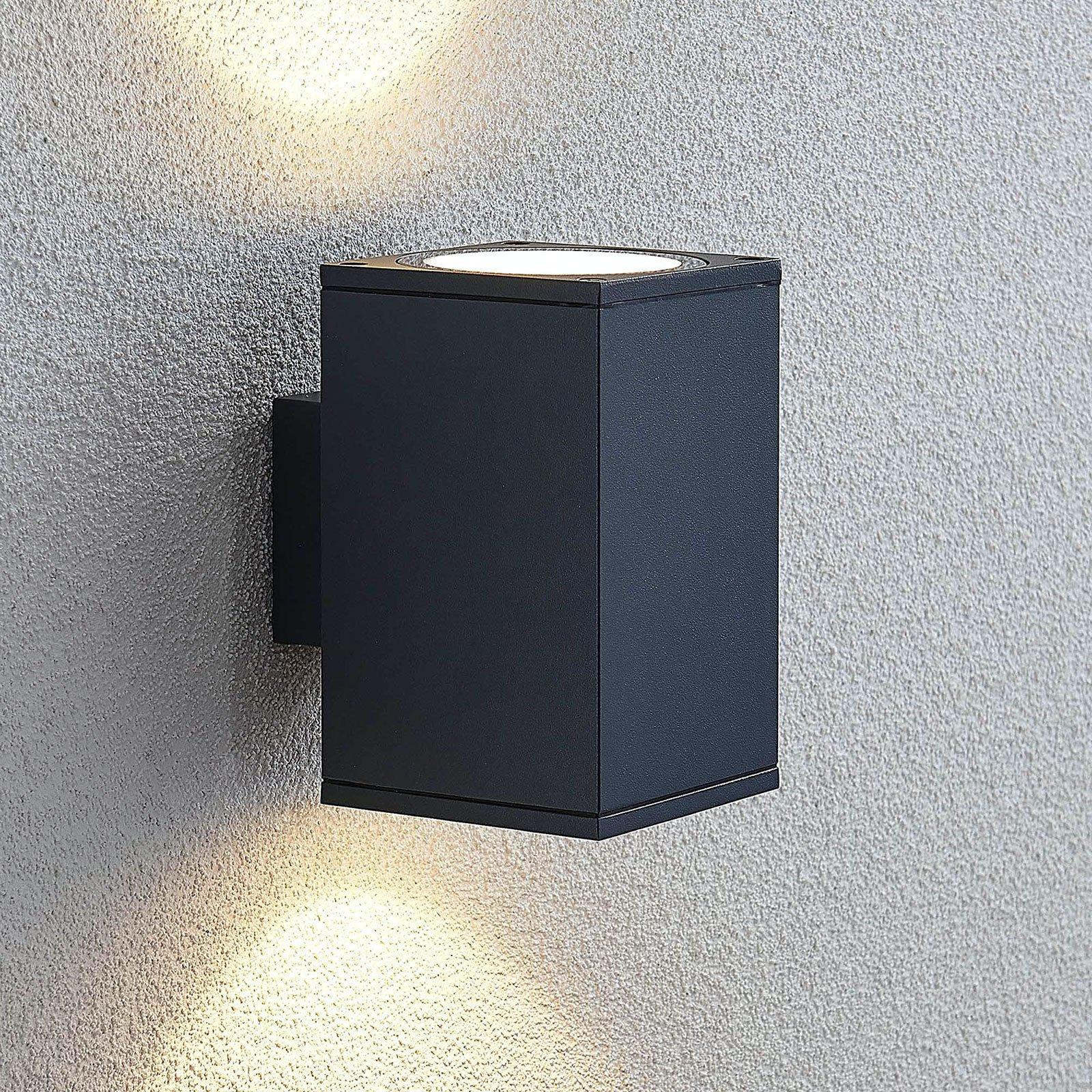 Utendørs LED-vegglampe Mekita, 2 lyskilder
