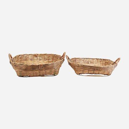 Kurver Sett med 2 størrelser Bambus h: 18 cm & h: 14 cm