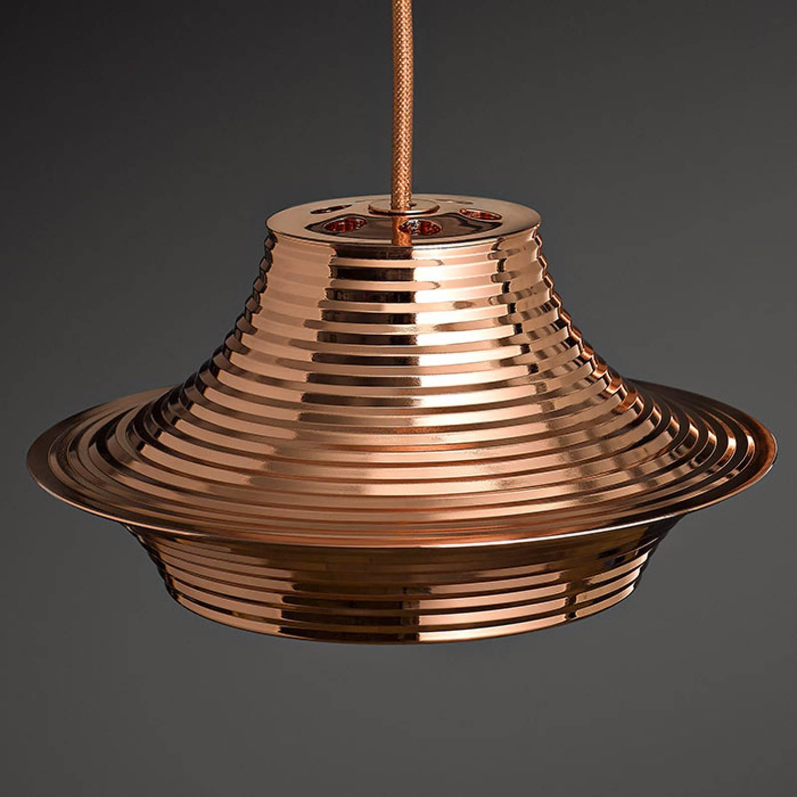 Bover Tibeta 03 - LED-hengelampe i kobber