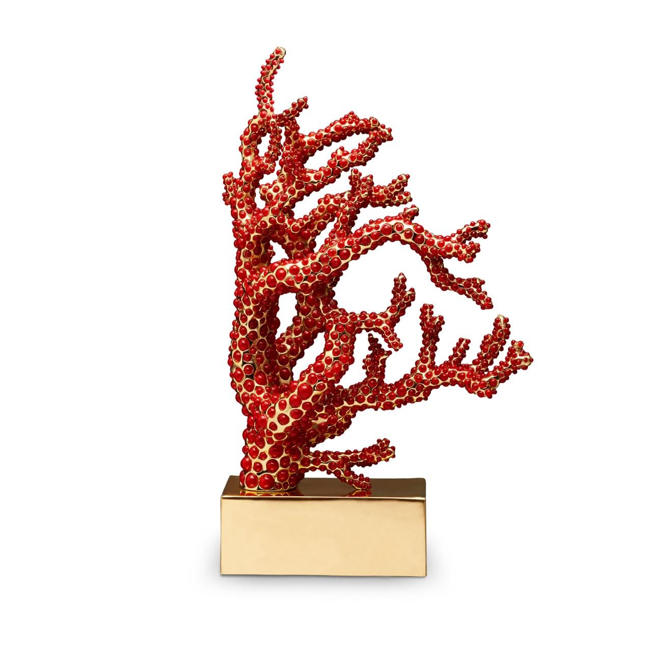 L'Objet I Coral Bookend Coral Book End Right