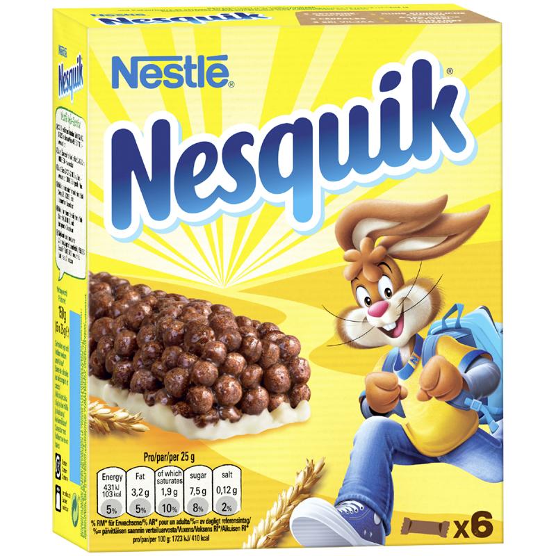 "Mellanmålsbars ""Nesquik"" 6 x 25g - 50% rabatt"