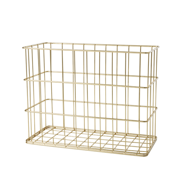 Rice - Wire Basket in Gold - Tall and Narrow Size