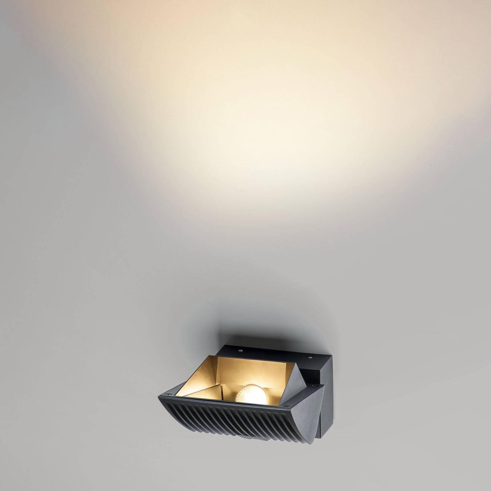 SLV Merado Flood -LED-seinävalaisin 4 000 K, musta