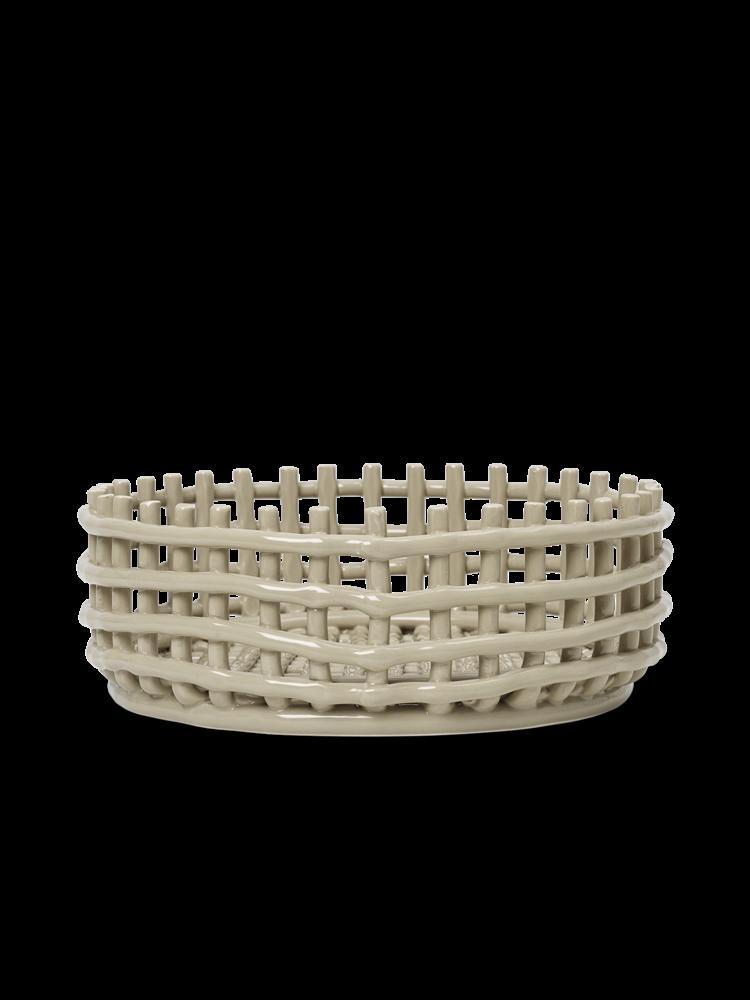 Ferm Living - Ceramic Centrepiece Basket - Cashmere (1104263775)