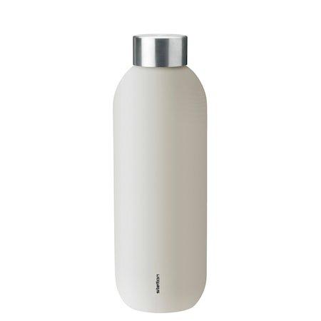 Keep Cool vacuum drinking bottle, 0,6 l. - sand/steel