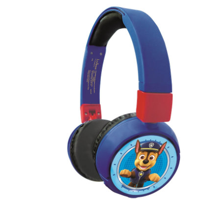 Lexibook - 2 in 1 Bluetooth and Wired comfort foldable Headphones with kids safe volume - Paw Patrol (HPBT010PA)
