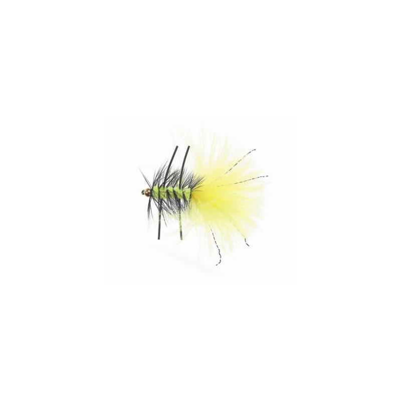 Rubber Leg Wooly Bugger #8 Fluo Yellow Kjøp 12 fluer få gratis flueboks