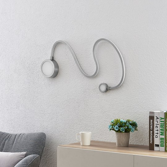 Lindby Rion -LED-seinävalaisin, nikkeli