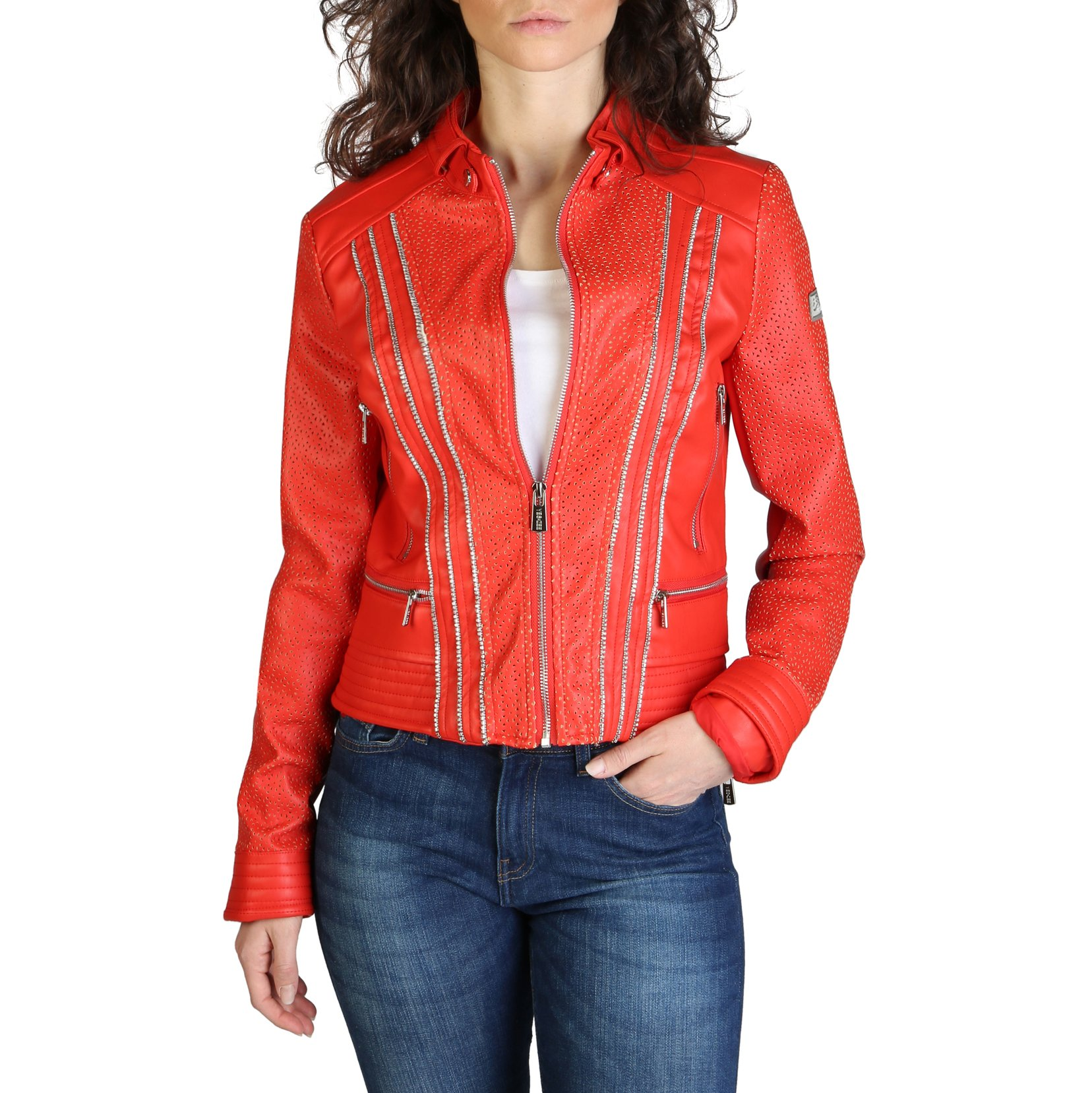 Yes Zee Women's Jacket Various Colours J406_G100 - red XS