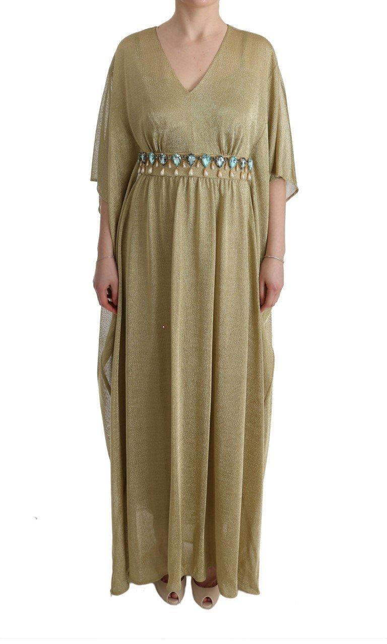 Dolce & Gabbana Women's Shift Long Crystal Dress Yellow SIG60659 - IT40 S