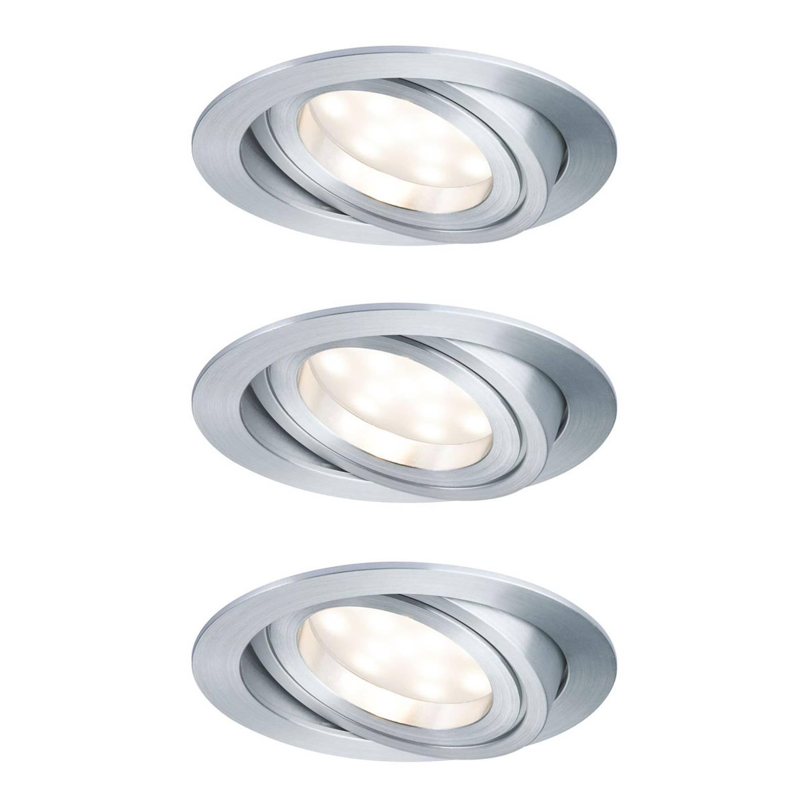 Paulmann LED-spotti Coin 3x7W, himmennys, taivutus