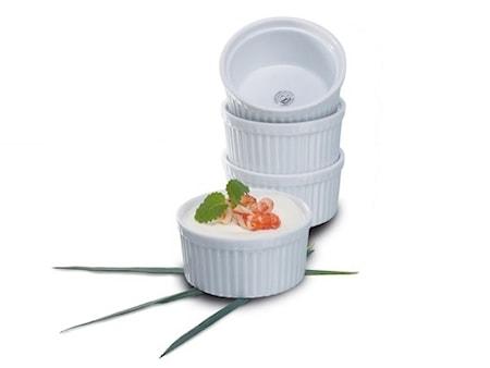 Suffléform Portionsstorlek 4 pack i Vitt Porslin 9,5 cm