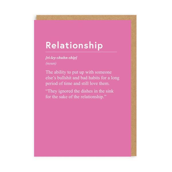 Relationship Greeting Card