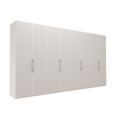 Garderobe Atlanta - Hvit 400 cm, 236 cm, Uten gesims / ramme