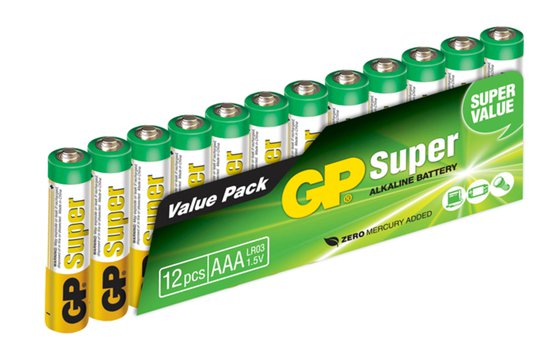GP Batterier AAA LR03 Super 12-pack