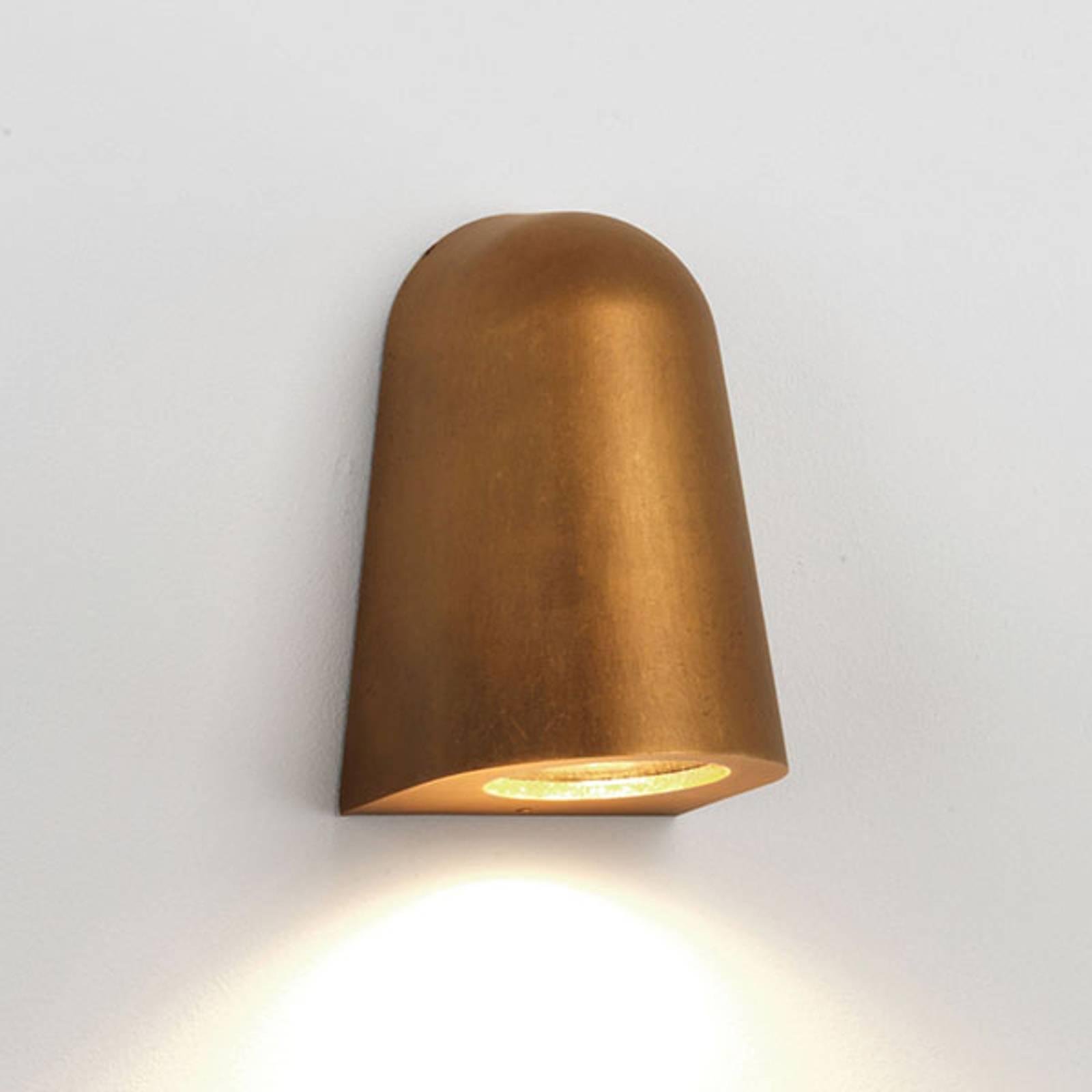 Astro Mast Light-ulkoseinälamppu, antiikkimessinki